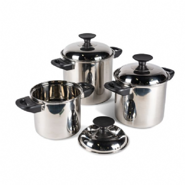 * Kampa Space Saver Stainless Steel Cook Set